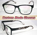 black big frame Leopard legs Myopia glasses Optical Custom made optical lenses Reading glasses -1.00 to -6.0 or +1.0 to +6.0