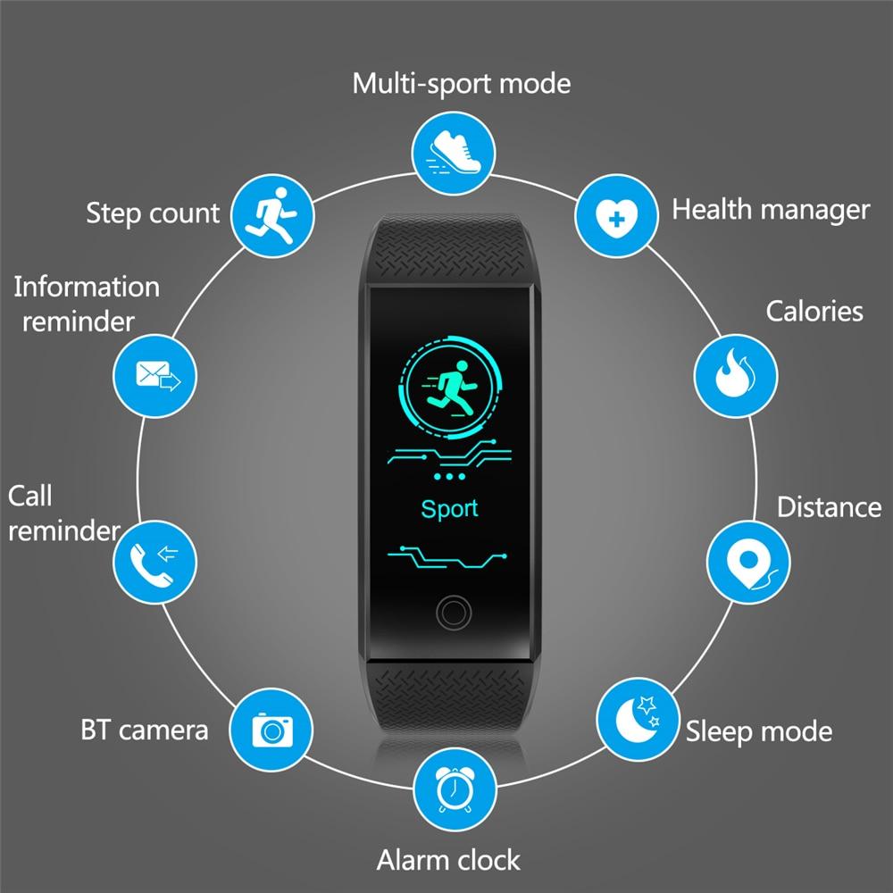 Bracelet à puce Intelligente Sport Bracelet Fitness Sommeil Tracker IP68 Pulse Montre En Plein Air Smartband Santé Bande Relogio Cardiaco