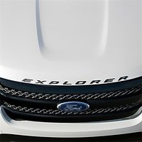 For Ford Explorer 2011 2019 Glossy Black Hood Letters Emblem Explorer Name Plate