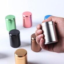 Металлический Алюминий Портативный небольшой запечатанный банок путешествия Чай Caddy герметичной запах контейнер тайник банка