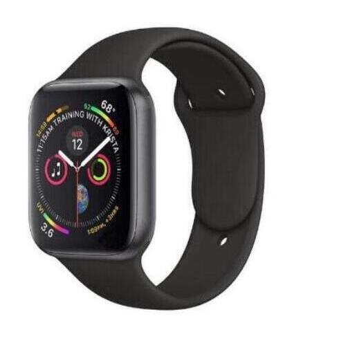 42mm taille 1:1 montre intelligente série 4 fréquence cardiaque Smartwatch couleur or avec bouton rouge boîtier en alliage pour iOS Android téléphone intelligent