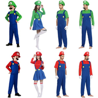 Super Mario Luigi Bros Odyssey Cosplay Costumes Adult Children Family Funy Dress Sets Halloween Christmas Party