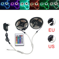 10M SMD 3528 Waterproof Dimmable RGB 600 LED Strip Light + Remote + Cable Connect +EU/US Plug Adapter DC12V