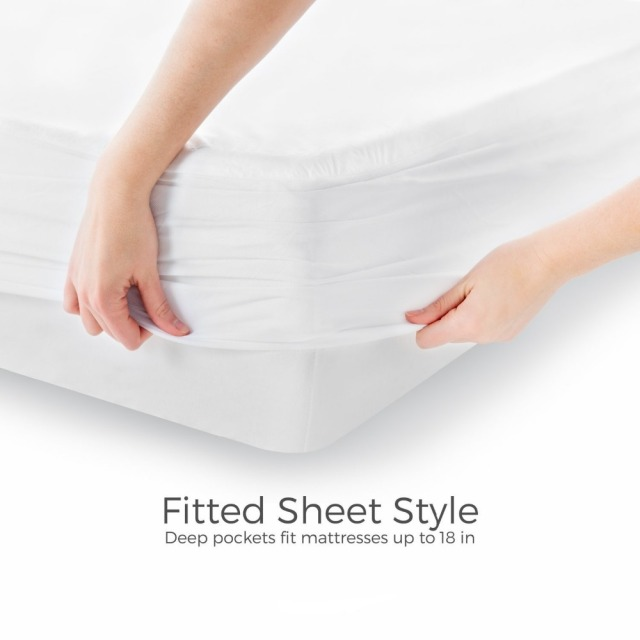 120x200cm Terry Waterproof Mattress Cover Protector For Bed Wetting And Bug Breathable