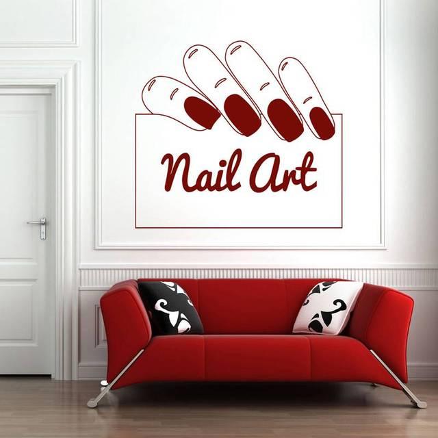 Nail Salon Sticker Nail Art Decal Name Posters Vinyl Wall