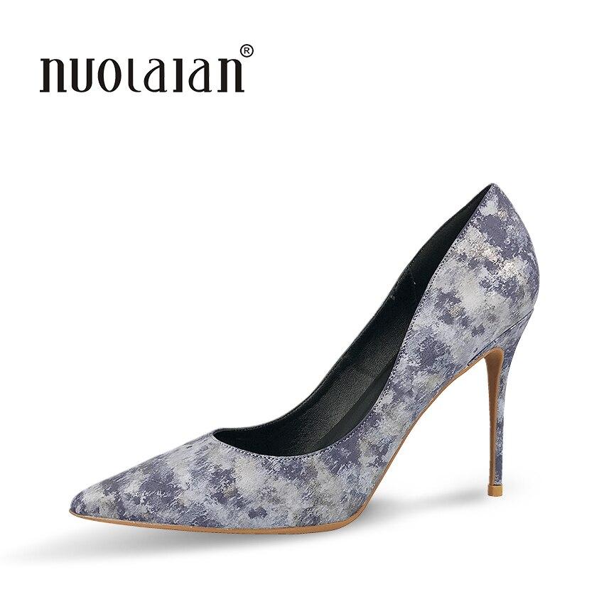 Top Chaussures Femmes Luxe Yw Pompes Gray Qualité 2018 Pointu Mariage Hauts Bout Femme Mariée De Nouveau Talons Mode Mince rBqr5O7w