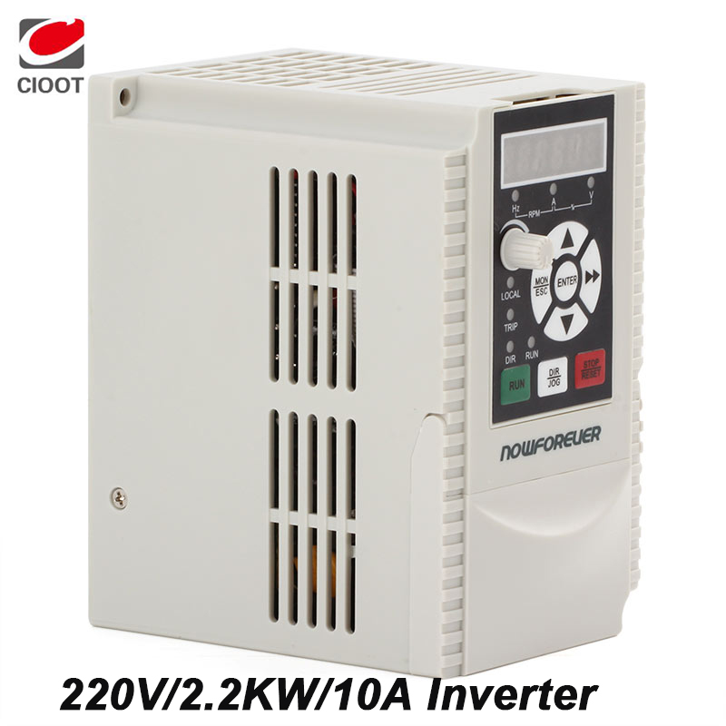 2.2KW 220V 1HP Variable Frequency Drive VFD Inverter Output 3 phase 400Hz 10A Inverter панель декоративная awenta pet100 д вентилятора kw сатин