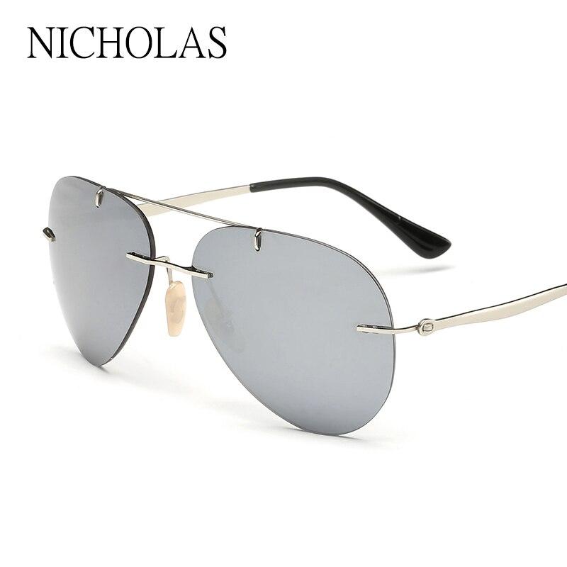 sin marco mm verdadero color gafas de sol polarizadas mujeres hombres al aire libre
