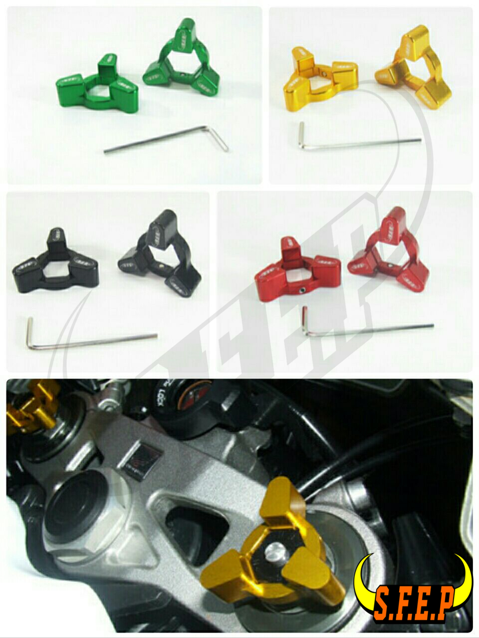 Motorcycle CNC Fork Preload Adjusters For Kawasaki ZX636R 05-06/ Z1000 03-06/ ZXR400 All Years/ NINJA 650R (ER-6f/ER-6n) 06-08