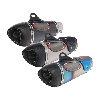 Motorcycle 51mm Exhaust Muffler Pipe with Removable DB Killer Escape Carbon Fiber Tips Dirt Bike Scooter ATV Modified Silencer