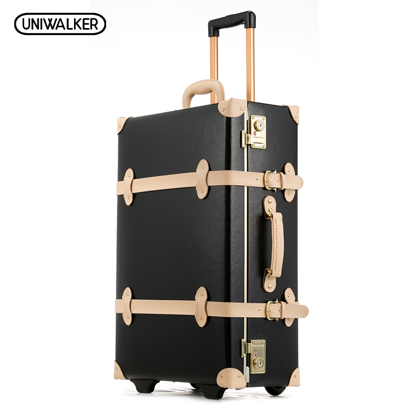 20 22 24 inches Cow Leather Trolley Bags Men Travel Hand Luggage Rod Box Fashion Waterproof Cowhide Suitcase Bag With TSA Lock 12 20 24 26 gray vintage travel suitcase trolley luggage retro trolley luggage suitcase bags free shipping with tsa lock