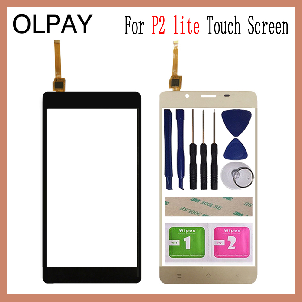 OLPAY 5.5'' Mobile Phone Touch Screen Digitizer For Blackview P2 Lite Touch Glass Sensor Tools Free Adhesive And Wipes