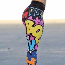 3D letra entrenamiento mujer fitness legging 2018 nuevas mujeres Sporting  leggings Pantalones slim wicking fuerza ejercicio 2f30a9a14c7e