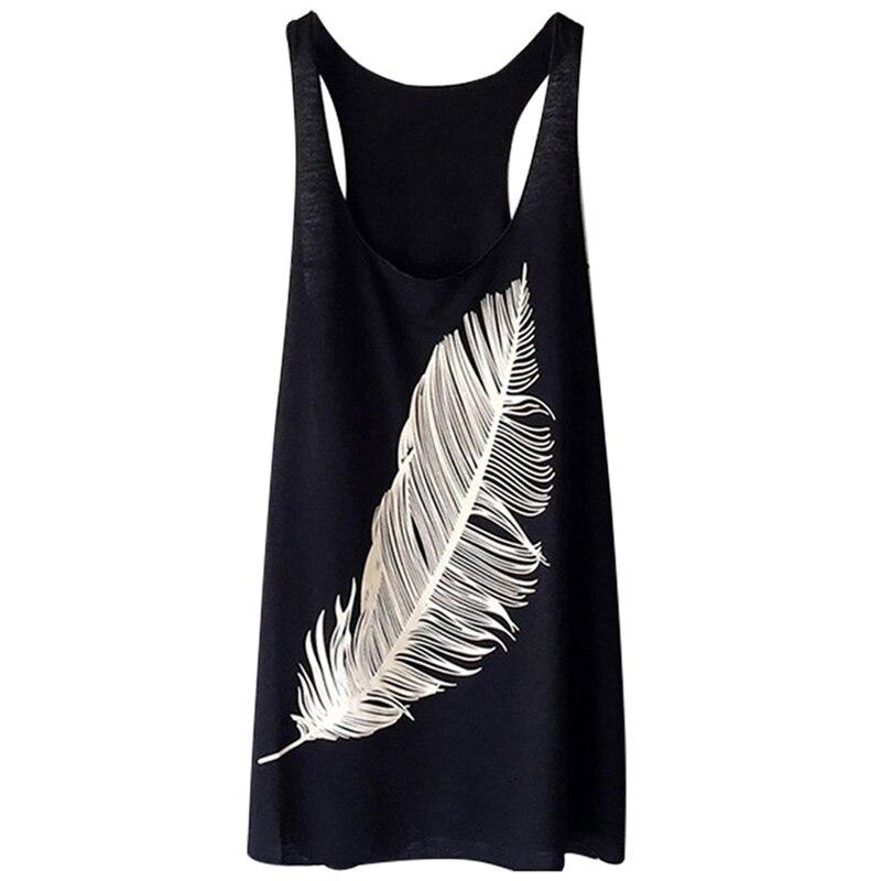 Summer New  Women's Print Vest Sleeveless O-neck Tank Top Casual Ladies Sports Vest