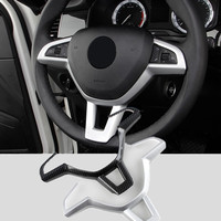 ABS Car Steering Wheel Panel Cover Moulding Trim Sticker for Skoda Kodiaq Interior Styling Accessories