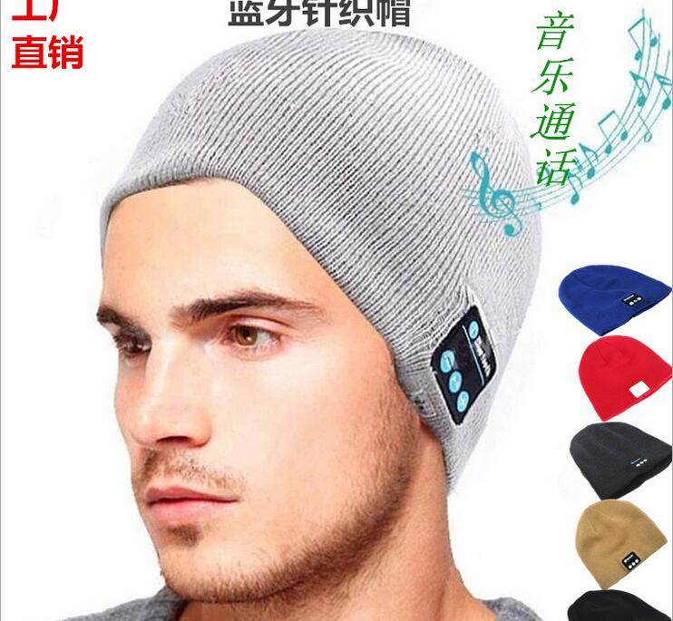 Wireless Bluetooth 4.1 Sport Music hat Smart Headset Cap Keep Warm winter Hat With Microphone Speaker For phone PC free shipping fashion cool striped wireless bluetooth music knit hat with handsfree smart cap headset top quality