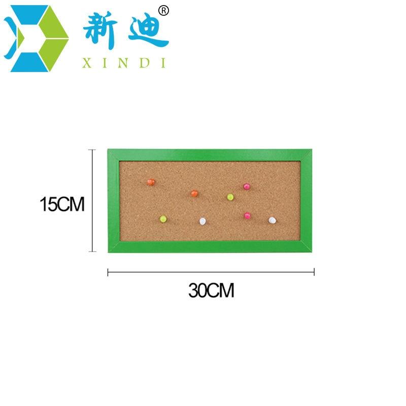 XINDI Neue 15*30cm MDF Rahmen Kleine Hinweis Bulletin Kork Bord Hause Dekorative Memo Nachricht Pin Board Kork freies Verschiffen