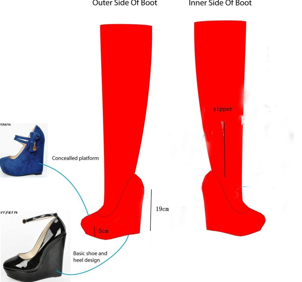 Sorbern Custom Made Boots Heels 19CM And Platform 5CM ensemble stars 2wink cospaly shoes anime boots custom made