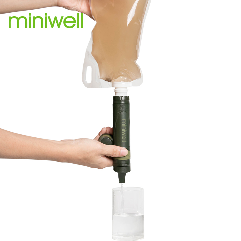 Miniwell Outdoor Sport Hiking Camping Climbing Tactical Personal Versatile Straw Water Filter Miniwell L600