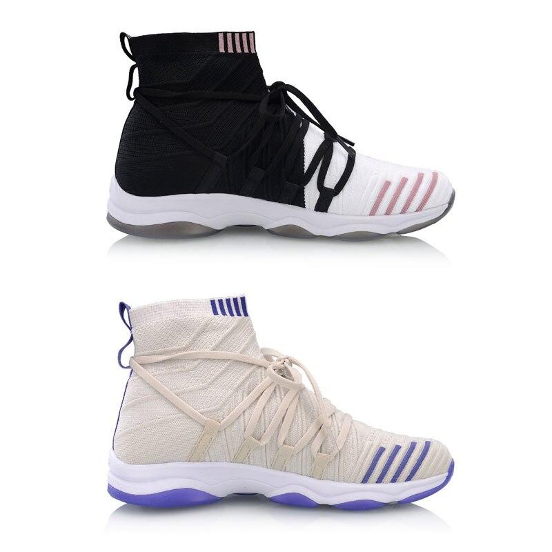 Li Ning Women NO BOUNDARIES Cushion Training Shoes Mono Yarn Wearable LiNing Fitness Sport Shoes Sneakers AFJP004 YXX054 - 2