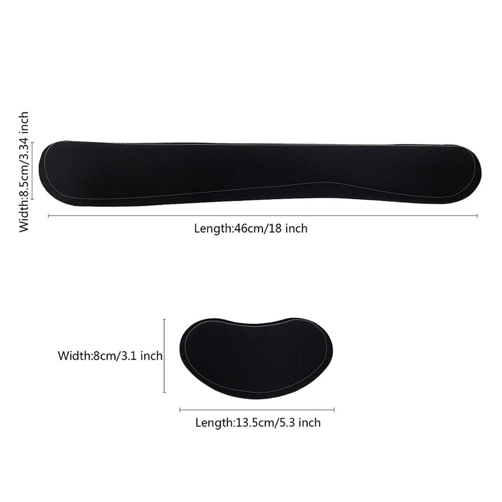Image 4 - Ergonomic Lightweight Wrist Rest for Computer Keyboard and Mouse Pad Support Memory Foam Set Easy Typing and Wrist Pain Relief-in Mouse Pads from Computer & Office