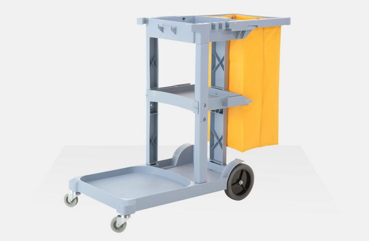 Cleaning Tool Cart Multifunction Trolley Tools Storage With Wheels and Bag Easy Moving For Car Detailing And Hotel Janitor Cart