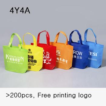 [4Y4A] 100pcs/Lot Accept custom logo non-woven bag Eco bag shopping bag 1