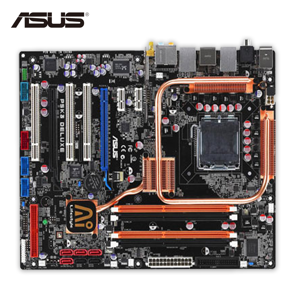 все цены на Asus P5K3 Deluxe/WiFi-AP Desktop Motherboard P35 Socket LGA 775 DDR3 SATA2 ATX Second-hand High Quality онлайн