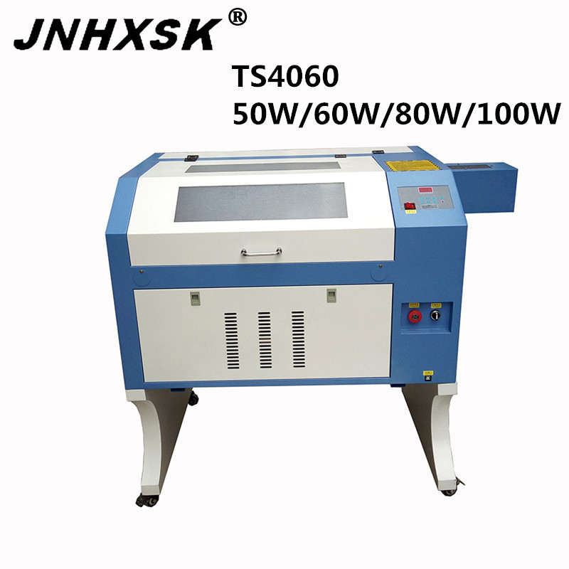 JNHXSK Laser TS4060 50w/60w/80w/100w interface usb 2.0 honeycomb laser engraving and cutting machine for crystal  giass CNC CO2 Wood Routers     - title=