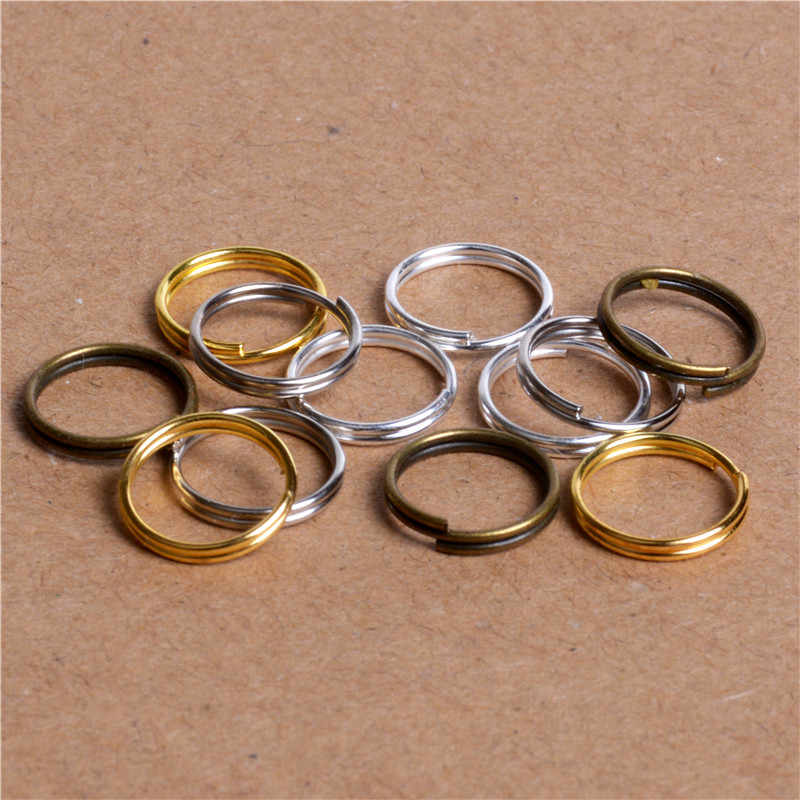 200pcs/lot 4/5/6/7/8/10mm Open Jump Rings Double Loops Gold/Silver /Rhodium/Bronze Split Rings for Jewelry Making Accessories
