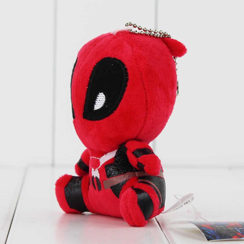 10 pçs/lote Deadpool Super Herói Avengers Plush Macio Stuffed Dolls Pingente Chaveiro De Pelúcia Frete Grátis