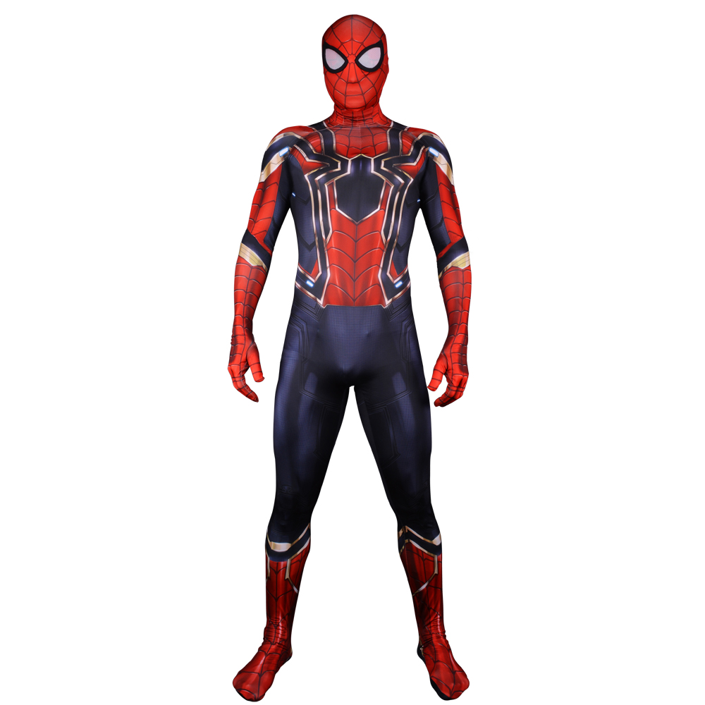 Kids Adult Iron Spider-man Cosplay Costume Avenger SpiderMan Superhero Halloween Costume 3D Print Zentai Suit Bodysuit Jumpsuit