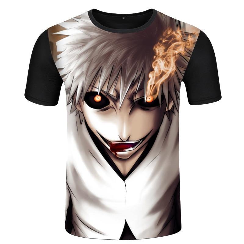 Roxinyuehu Anime Bleach Kurosaki Ichigo Men T Shirt Summer