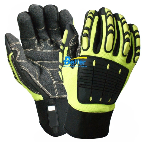 Rigger Clutch Gear Glove Anti Vibration Safety Glove Cut Resistant Shock Absorbing Glove Anti Impact Proof Mechanics Work Glove