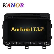 KANOR Android 7.1 Quad core RAM 2G Car DVD GPS Radio stereo For KIA K5 Optima 2014 8inch 1024*600 Capacitive Touchscreen WIFI
