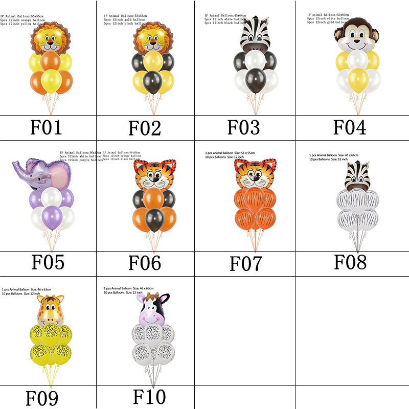 Image 5 - 1Set Foil Jungle Animal Balloons Tiger Lion Monkey Zebra Giraffe Elephant Baby Shower Children Happy Birthday Party Decoration-in Ballons & Accessories from Home & Garden