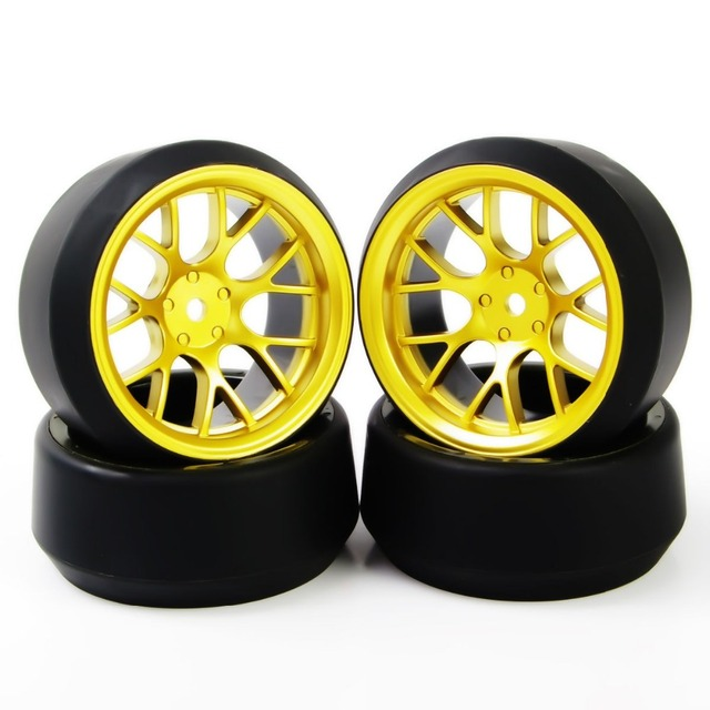 4Pcs/Set 12 mm Hex RC Drift Tires Tyre & Wheel Rim Set DHG+PP0370 Fit HSP HPI 1:10 On-Road Model Car Toys Parts Accessories