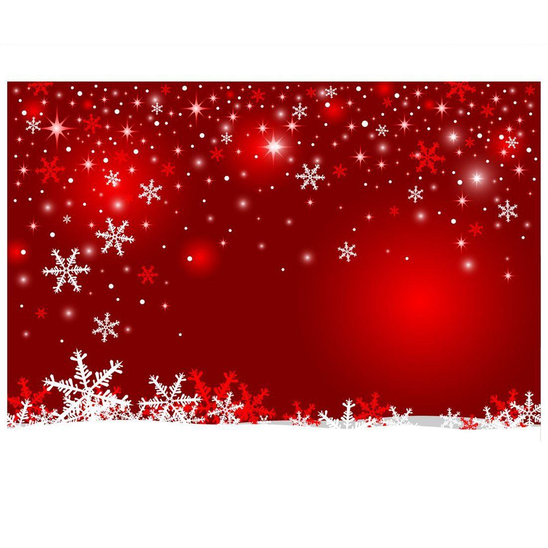 7x5ft Rot Weihnachten Hintergrund Wand Weihnachten Schneeflocke ...
