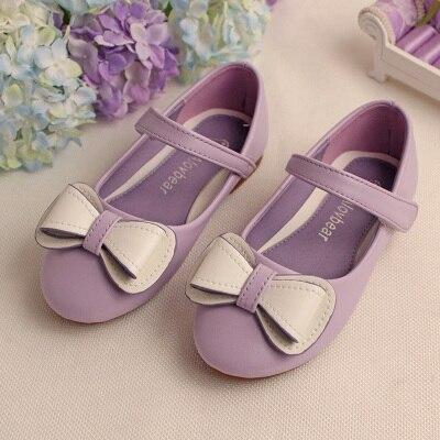 2016 весна детей кожа обувь одного моды сладкий лук качества девочка принцесса обувь обувь для девочек