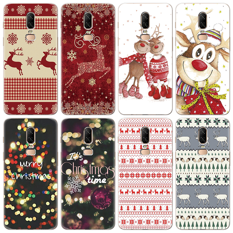 Merry Christmas Case For One Plus 5 5T 6 6T 3 Soft TPU Cartoon Phone Case