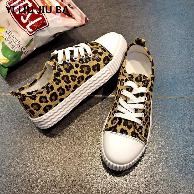 new 2019 sizzling sale Spring girls sneakers flats Leopard sneakers girls canvas sneakers flats lace up informal sneakers girls zapatos mujer **120 Girls's Flats, Low cost Girls's Flats, new...