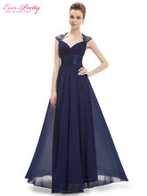 Evening Dresses Fast Shipping EP09672 Ever Pretty V-neck Empire Chiffon Sexy Long 2017 Vestidos Longo Party Evening Elegant