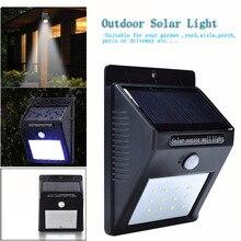Waterproof LED Solar Light Motion Sensor Outdoor Solar Wall Light Lamp lighting for Garden Yard Path Street Solar Lamp 20LED