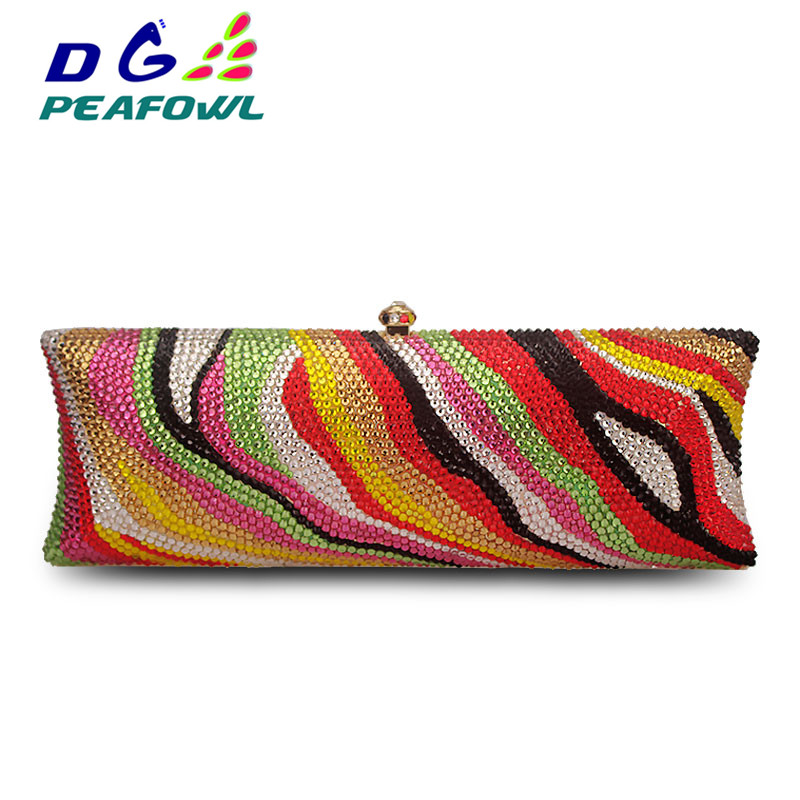 Luxury Colorful Full Diamond Women Bag European Evening Clutch Lady American Style Messenger Bag Personality Clutch WalletLuxury Colorful Full Diamond Women Bag European Evening Clutch Lady American Style Messenger Bag Personality Clutch Wallet