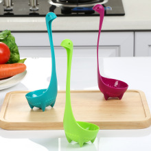 Столовая посуда Мультфильм Пластиковый дуршлаг с длинной ручкой суп посуда кухонные инструменты для приготовления пищи