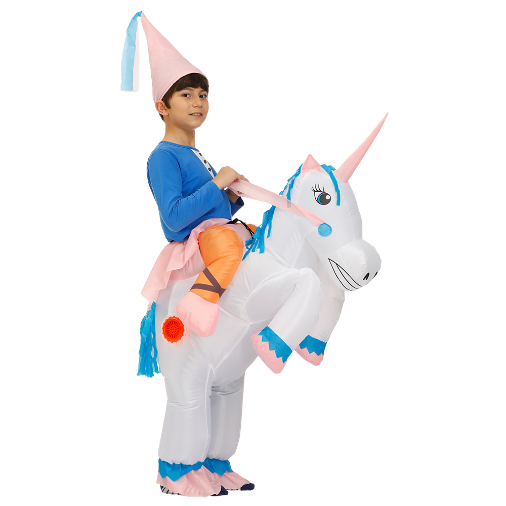 Cosplay Factory Outlet Child Kids Funny Fancy Dress Inflatable Unicorn Costume Pegasus Costumes Holiday Party Dress Up Animal