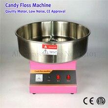 52 см Нержавеющая сталь чаша коммерческих хлопка машина candy розовый цвет конфеты Фея Вышивка Крестом Нить Maker 1030 Вт 220 В