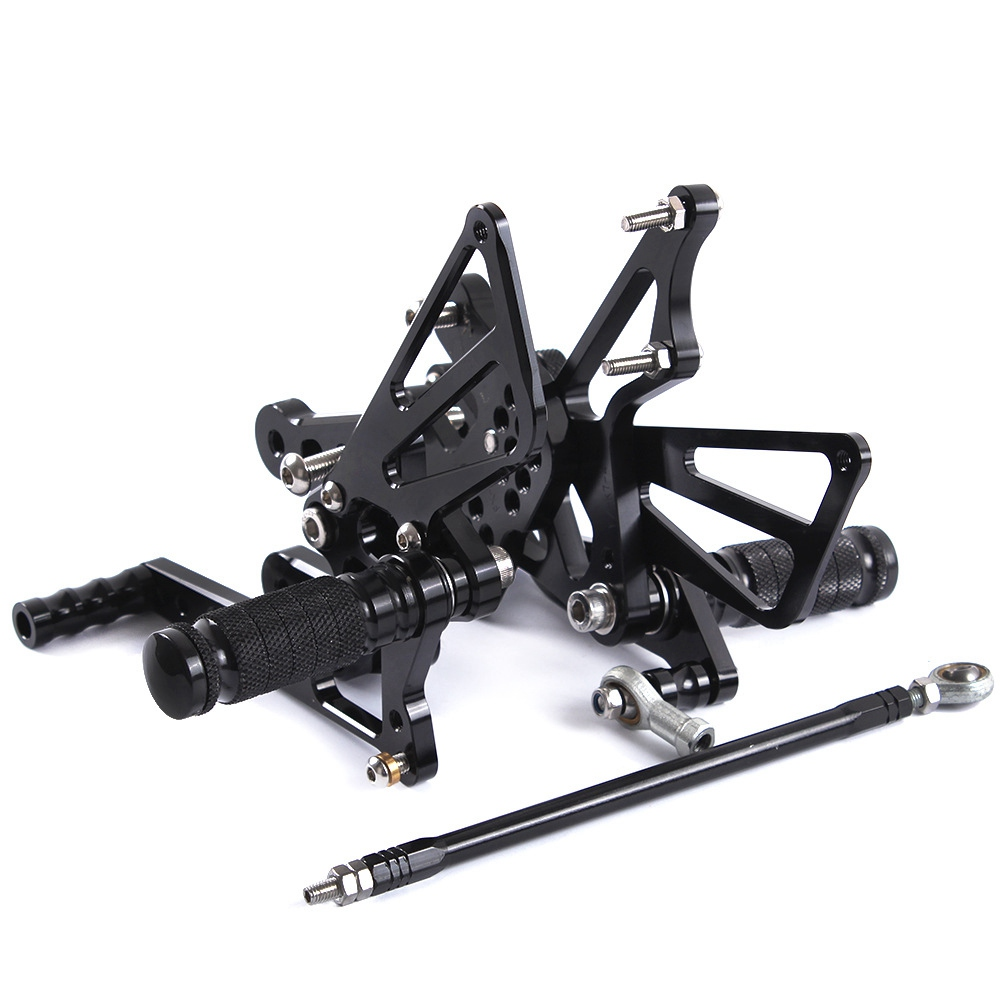 CNC Aluminum Motorcycle Adjustable Rearsets Rear Sets Foot Pegs Pedal Foot Rests For SUZUKI GSXR1000 GSX-R 1000 2007 2008 k7CNC Aluminum Motorcycle Adjustable Rearsets Rear Sets Foot Pegs Pedal Foot Rests For SUZUKI GSXR1000 GSX-R 1000 2007 2008 k7