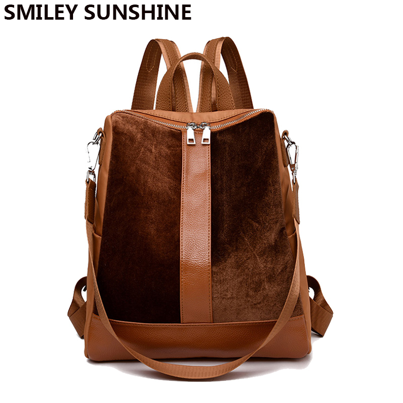 Fashion Backpack for Women Big Back Pack Female Leather Backpack School Bag Backpacks for Teenage Girls Bagpack Back To School leftside 2017 women leather backpack children backpack mini backpack women cute back pack backpacks for teenage girls small bag