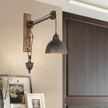 Loft retro lamp vintage lifting pulley wall lamp dining room restaurant aisle corridor pub cafe wall lamp lampshade wall sconce retro lamp wall sconce modern wall light glass ball dining bedroom e27 wall lamp restaurant aisle corridor pub cafe wall lights